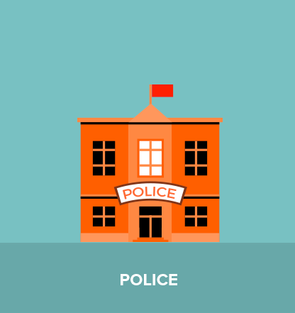 The police station. A place to go when things get serious.